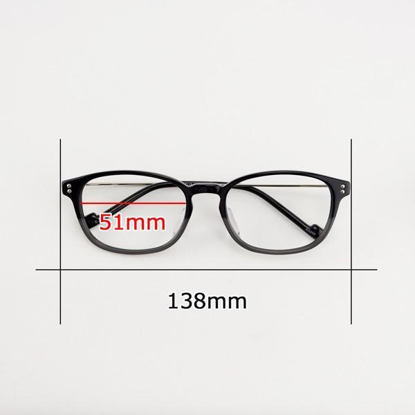 おしゃれ 2色のバイカラー グラデーション メンズ 度付きメガネ ダテめがね|e-zone|15
