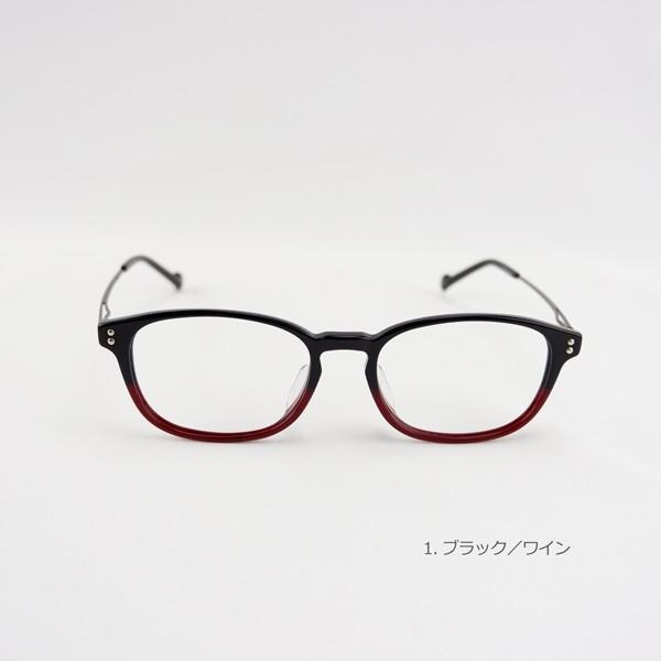 おしゃれ 2色のバイカラー グラデーション メンズ 度付きメガネ ダテめがね|e-zone|04