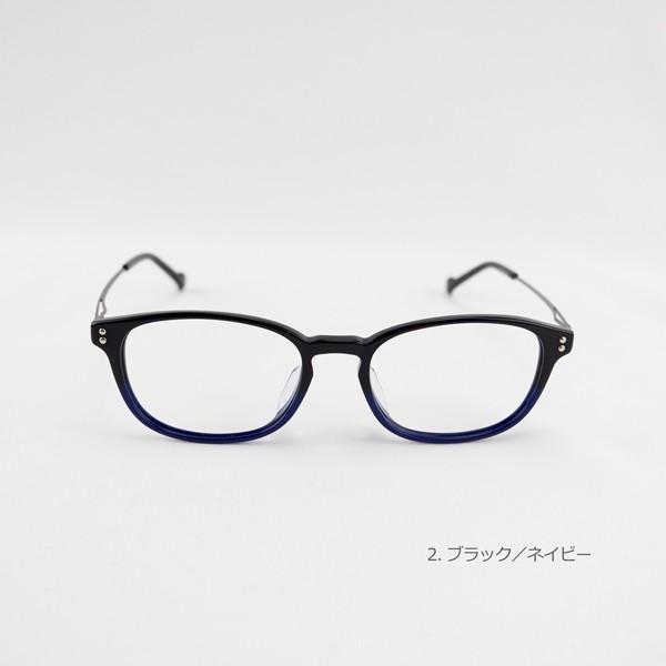 おしゃれ 2色のバイカラー グラデーション メンズ 度付きメガネ ダテめがね|e-zone|05