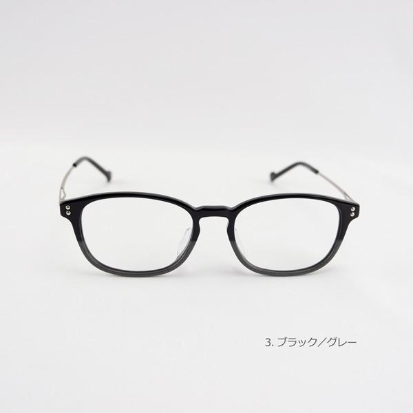 おしゃれ 2色のバイカラー グラデーション メンズ 度付きメガネ ダテめがね|e-zone|06