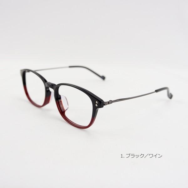 おしゃれ 2色のバイカラー グラデーション メンズ 度付きメガネ ダテめがね|e-zone|07