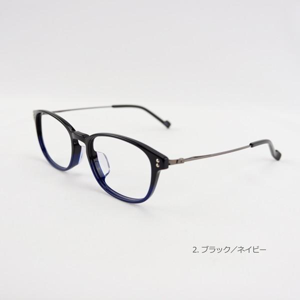 おしゃれ 2色のバイカラー グラデーション メンズ 度付きメガネ ダテめがね|e-zone|08