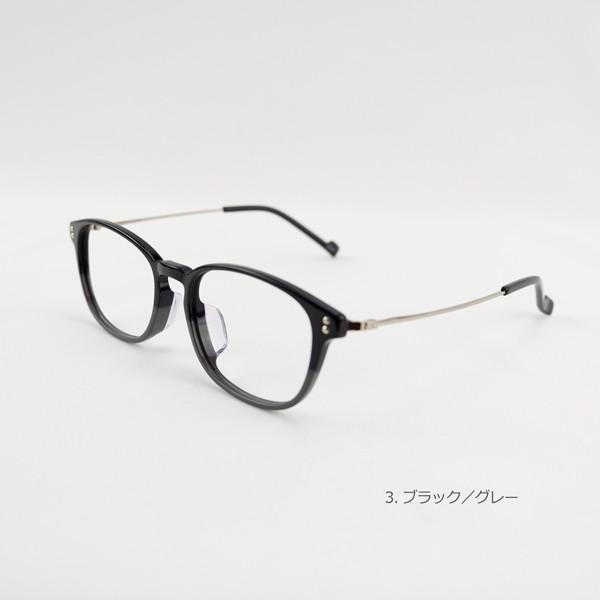 おしゃれ 2色のバイカラー グラデーション メンズ 度付きメガネ ダテめがね|e-zone|09