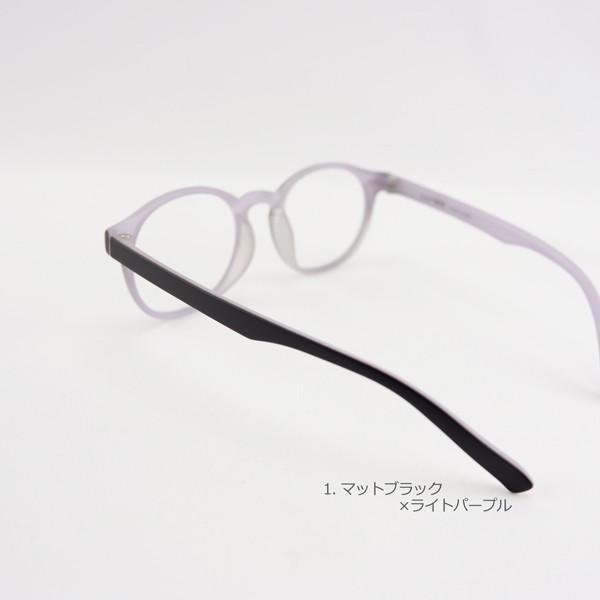 ラフにかけられるボストン 軽い 度付きメガネ ダテめがね|e-zone|11