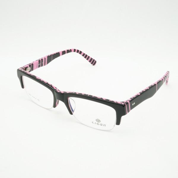 珍しい 個性的 セルフレーム 度付きメガネ ダテめがね ピンク ブルーライトカット|e-zone|03