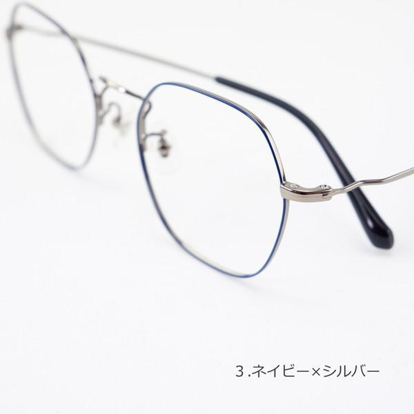 多角形 六角形 ヘキサゴンメタル メンズ おしゃれ 知的 度付きメガネ ダテめがね|e-zone|12
