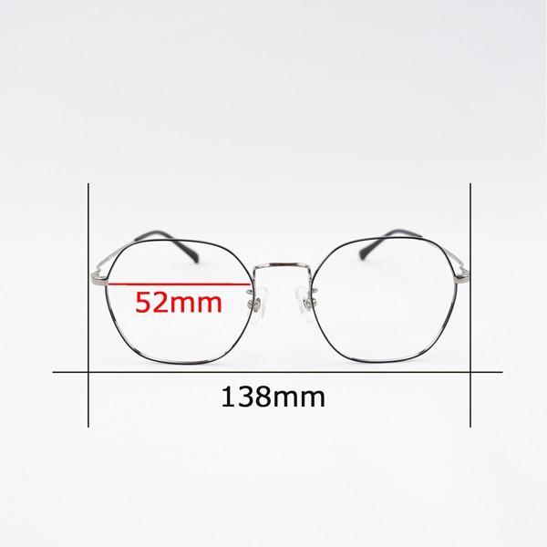 多角形 六角形 ヘキサゴンメタル メンズ おしゃれ 知的 度付きメガネ ダテめがね|e-zone|13
