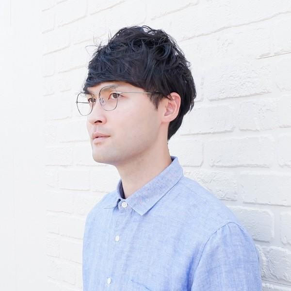 多角形 六角形 ヘキサゴンメタル メンズ おしゃれ 知的 度付きメガネ ダテめがね|e-zone|15