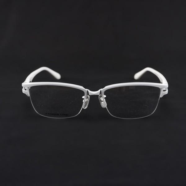 白いフレーム おしゃれ ホワイト サーモント ナイロール メンズ 度付きメガネ ダテめがね ブルーライトカット|e-zone|03