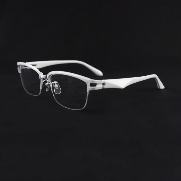 白いフレーム おしゃれ ホワイト サーモント ナイロール メンズ 度付きメガネ ダテめがね ブルーライトカット|e-zone|04