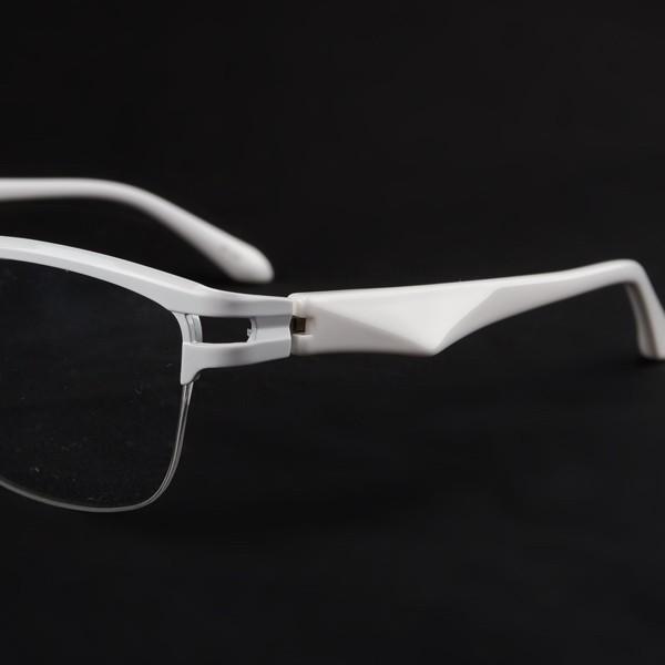 白いフレーム おしゃれ ホワイト サーモント ナイロール メンズ 度付きメガネ ダテめがね ブルーライトカット|e-zone|05