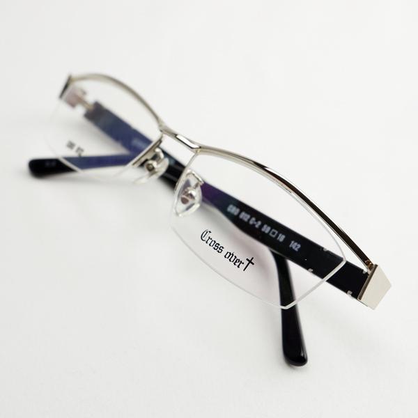 大きいフレーム メタル 白フレーム ホワイト ゴールド おしゃれ メンズ 度付きメガネ ダテめがね|e-zone|10