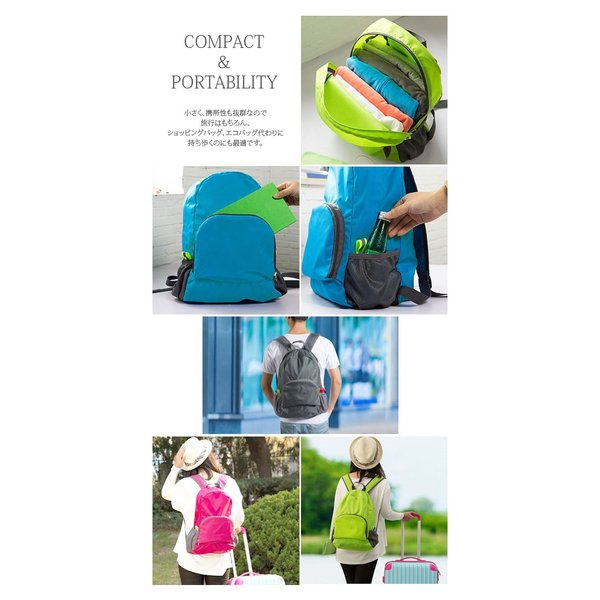 リュック コンパクト 折りたたみ ナップサック トラベルバッグ 収納バッグ 旅行用品 便利グッズ|e2pond|04
