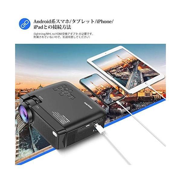 LED プロジェクター 小型 フルHD対応 3600lm 1080P 19201080最大解像度 台形補正 スピーカーが二つ内蔵 パソコン/スマ|ea-s-t-store|04