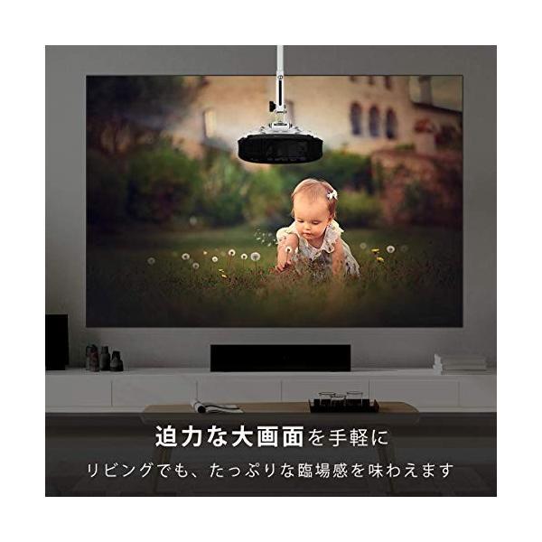 Vamvo プロジェクター LED ホームプロジェクター 3500ルーメン 1080p最大解像度 HDMIケーブル付属 L3600 特別なアイテ|ea-s-t-store|03
