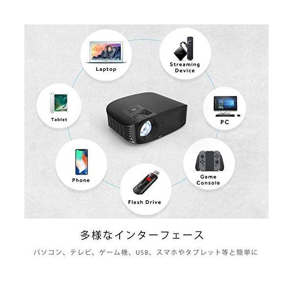 Vamvo プロジェクター LED ホームプロジェクター 3500ルーメン 1080p最大解像度 HDMIケーブル付属 L3600 特別なアイテ|ea-s-t-store|05