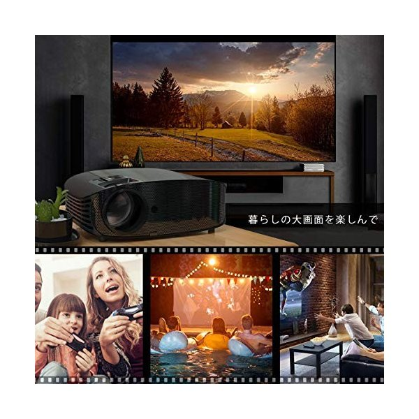 Vamvo プロジェクター LED ホームプロジェクター 3500ルーメン 1080p最大解像度 HDMIケーブル付属 L3600 特別なアイテ|ea-s-t-store|07