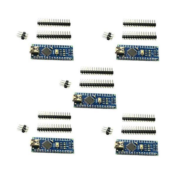 Rasbee 5個 Mini USB Nano V3.0 ATmega328P CH340 国内配送 マイクロコントローラーボード Nanoボード Arduino用 並行輸入品|ea-s-t-store