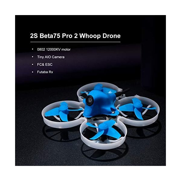 BETAFPV Beta75 Pro 2 Brushless Whoop Drone with 2S F4 AIO FC Futaba Recevier 5A ESC 25mW Z02 Camera 35 Degree OSD Smart Audio 12000KV 08028 Motor PH2.|ea-s-t-store|02