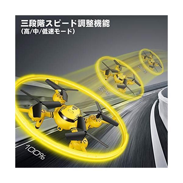 ドローン カメラ付き WI-FI FPV機能 HDドローン マルチコプター LEDライト 体感モード 高度維持機能搭載 初心者子|ea-s-t-store|05