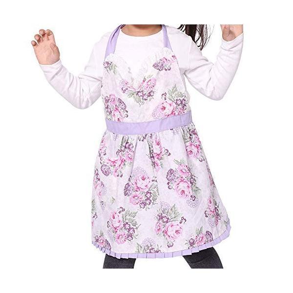 Neoviva[Hortensia]キッズエプロン 子ども フリル H型 前掛け 可愛い 女の子 エプロン キッズ|ea-s-t-store