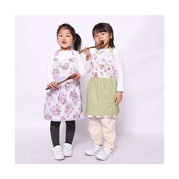 Neoviva[Hortensia]キッズエプロン 子ども フリル H型 前掛け 可愛い 女の子 エプロン キッズ|ea-s-t-store|07