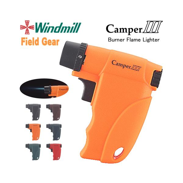 【WINDMILL】 ウインドミル/ターボガスライター 「Camper III/キャンパー3」  ※バーナーフレームタイプ