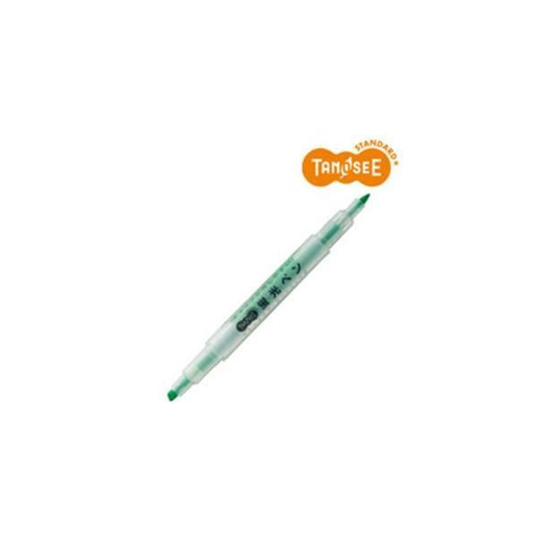 返品可 レビューで次回2000円オフ 直送 (まとめ)TANOSEE キャップが外しやすい蛍光ペン ツイン 緑×10本 生活用品・インテリア・雑貨 文具・オフィス用品 ペン