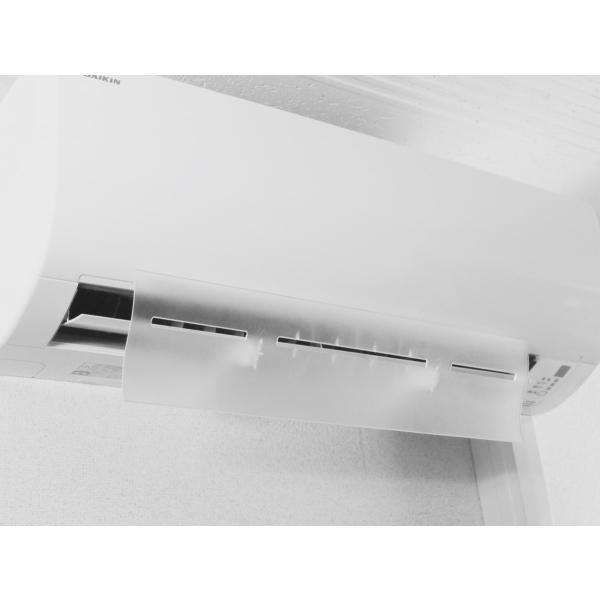 エアコン 風よけ 風除け 風向き 冷房 乾燥 エアーウィングKaze-Yoke ホワイト AW16-021-01 クリア AW16-022-01 AIR WING Kaze-Yoke|eakonkazeyoke|05