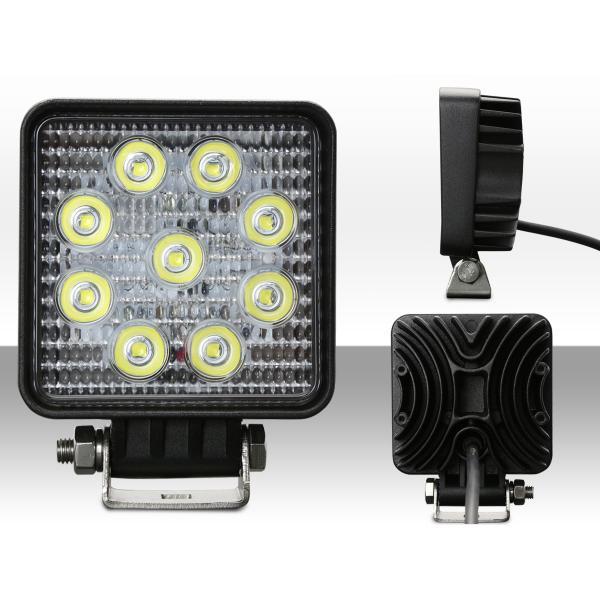 LED ミニ作業灯 27W ワークライト 角型 1720ルーメン CREE製XB-Dチップ 従来比約50% 小型モデル 12V/24V P-469|eale|02