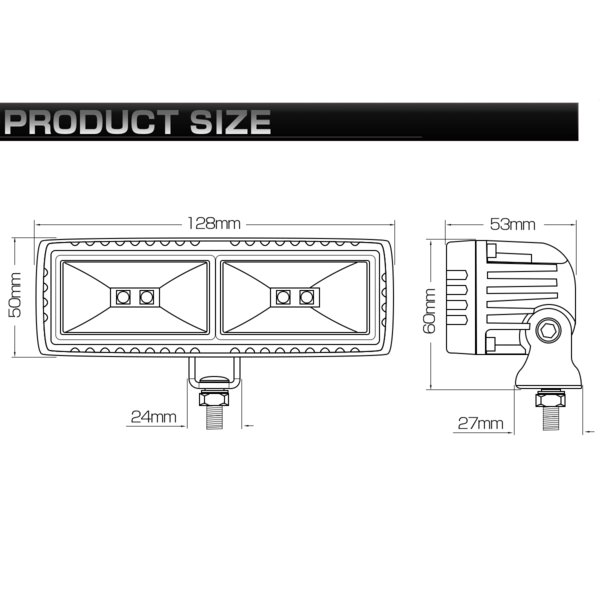 40W LED 作業灯 小型 軽量モデル 60度 広角 アルミダイキャスト 防水IP67 12V 24V P-535 eale 06