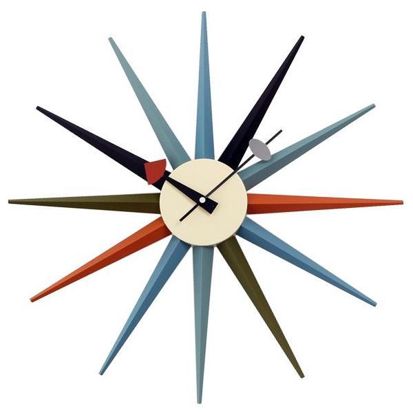 ジョージネルソン 掛け時計 サンバーストクロック マルチカラー 正規ライセンス品