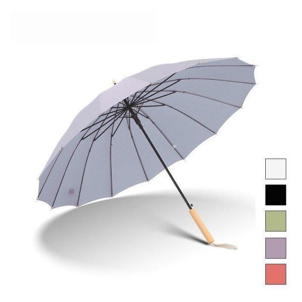 長傘レディースメンズ長柄日傘雨傘晴雨兼用ビッグサイズUVカット紫外線対策ボタン手動開閉式大きい長傘オシャレ16本骨おしゃれかわい