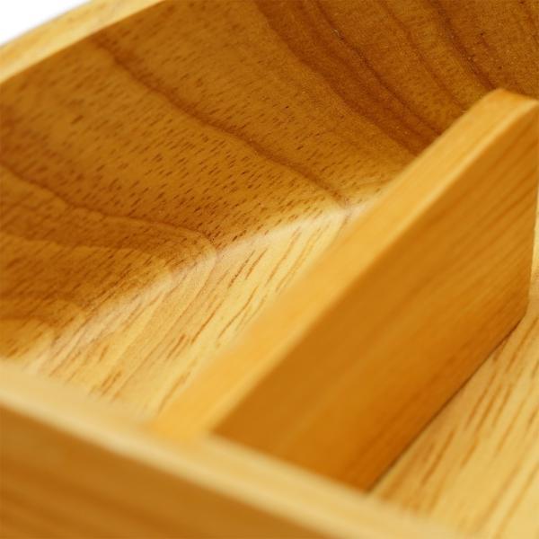 Eaoike そらまめ弁当箱 天然木をくり抜いて造られたおしゃれなおべんとう箱 eaoike 03