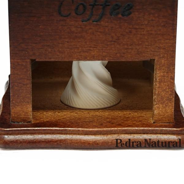 Pedra Natural 木製 手挽き アンティーク クラシカル コーヒーミル パッケージピンク|eaoike|04