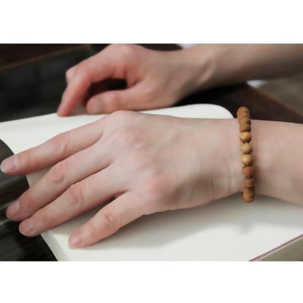 白檀ブレス 8mm玉 チャンダン サンダルウッド ウッドブレス 香木 アロマ|earth-collection|04