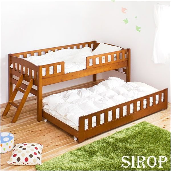 親子ベッド 2段ベット 収納2段ベッド コンパクト すのこタイプ