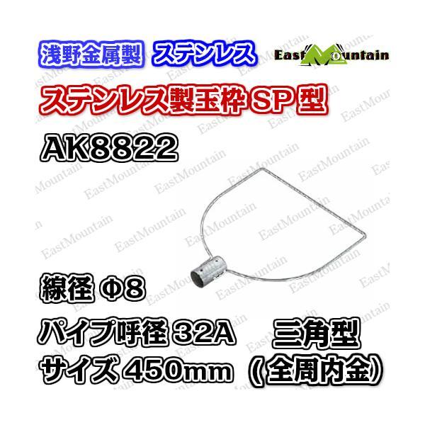 AK8822x5 玉枠三角型SP32A 8×450mm (全周内金入) 5本セット(受注生産)
