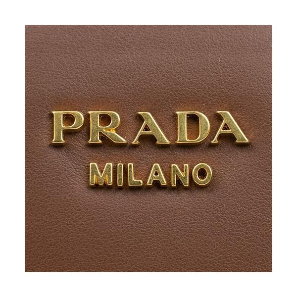 PRADA プラダ カナパ ハンドバック 1BA045 ブラウン レザー 新品