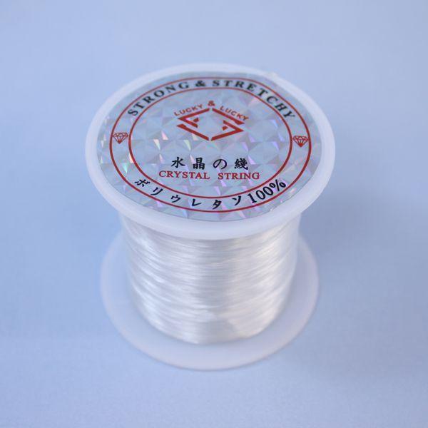 水晶の糸(白色) // ブレスレット用ゴム
