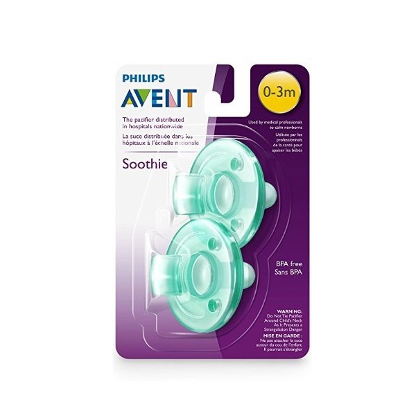 Philips フィリップス Avent Soothie Pacifier おしゃぶり 0‐3ヶ月用 グリーン2個入り