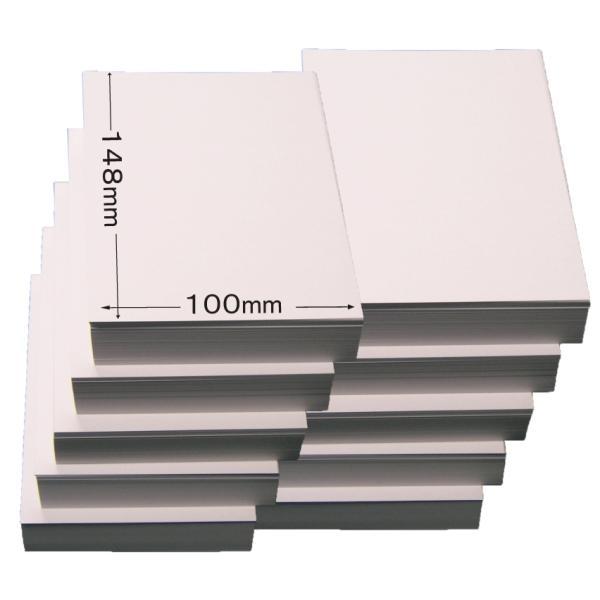 両面無地はがき/1000枚 白色 無地用紙 ハガキ 印刷用上質紙 ポストカード 大手製紙メーカー製(三菱or王子製紙)国産品 QSLカードやDMに