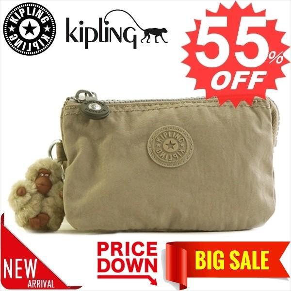 キプリング バッグ ポーチ KIPLING K01864 CREATIVITY S 828 WARM GREY 999 比較対照価格 4,212 円