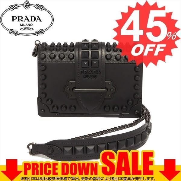 プラダ PRADA ショルダーバッグ Cahier Leather Shoulder Bag 1BH0182BB0 レディース NERO1 F0632 比較対照価格 284,040 円