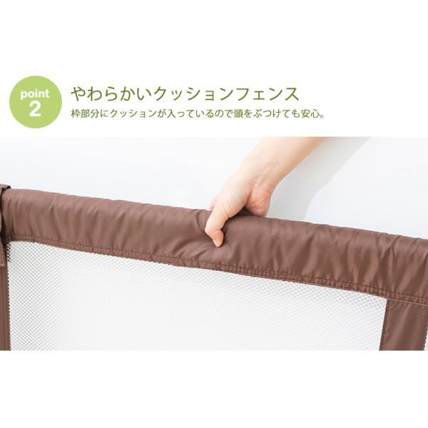 ベビーゲートつっぱり とおせんぼ XLサイズ ブラウンドット/ブラウン 日本育児 (送料無料)|ebaby-select|05