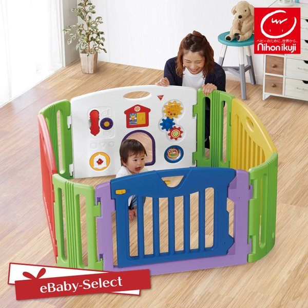 ベビーサークル ミュージカルキッズランド スクエア 日本育児(送料無料)|ebaby-select