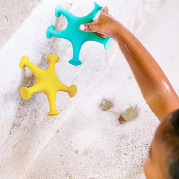 バストイ Ubbi(ウッビー)Starfish Sucition Toy くっつくヒトデ3色セット バストイ|ebaby-select|02