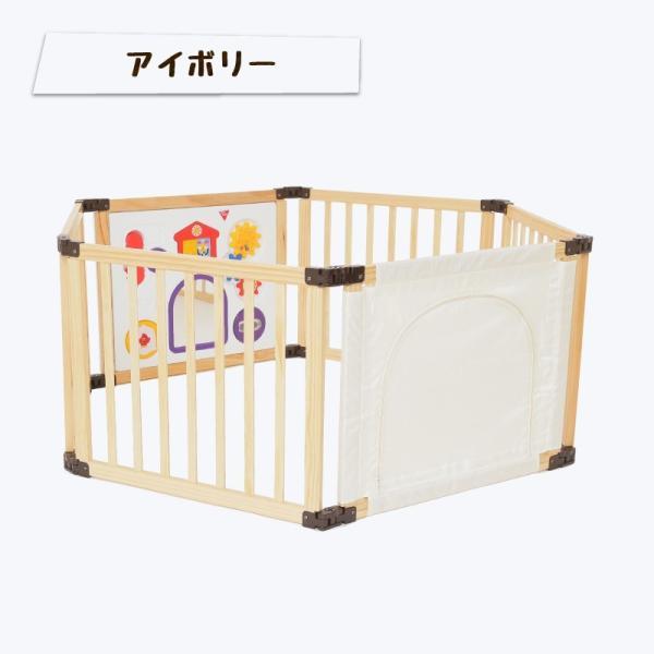 [先行限定版]サークル 木製 折りたためる 木製フレックスサークル くぐるっとDX 日本育児(送料無料)|ebaby-select|03