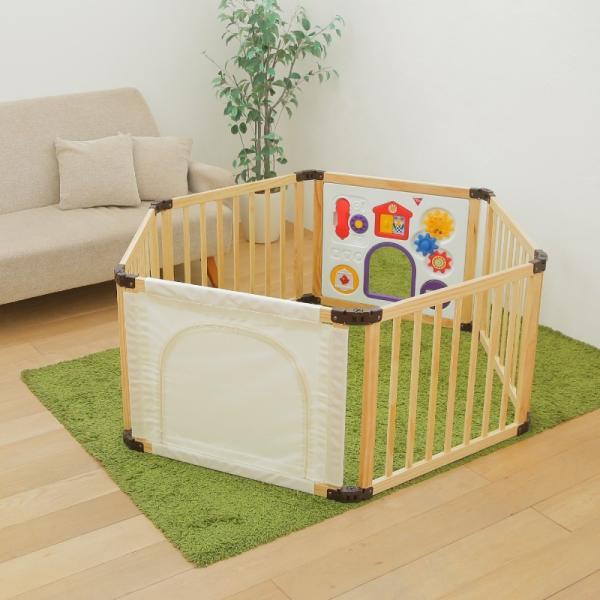[先行限定版]サークル 木製 折りたためる 木製フレックスサークル くぐるっとDX 日本育児(送料無料)|ebaby-select|04