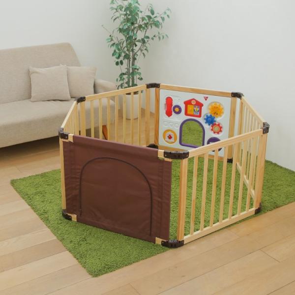 [先行限定版]サークル 木製 折りたためる 木製フレックスサークル くぐるっとDX 日本育児(送料無料)|ebaby-select|06